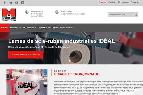 Conception de site Web Montfort International, Québec