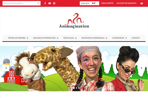 Conception de site Web Animagination, Québec