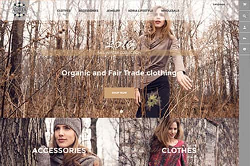 Portefolio conception site internet Adria Mode par Dialoguenet.ca