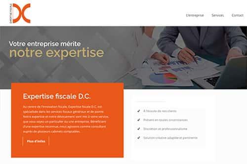 Portefolio conception site internet Expertise fiscale DC par Dialoguenet.ca