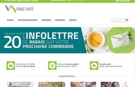 Conception de site Web Virage Santé, Lévis